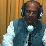 At the Radio Station; Dr Sankaraji answering spiritual questions