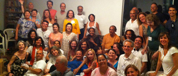 With the Yajna participants